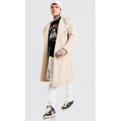 男士仿毛长款夹克