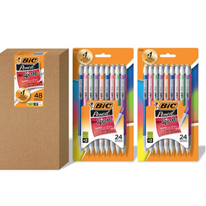 BIC Xtra Sparkle Mechanical Pencil, Colorful Barrel