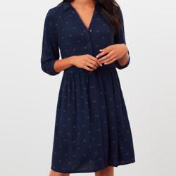 Karis Concealed Placket Shirt Dress