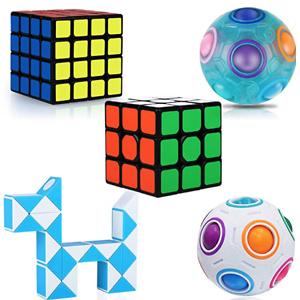 KidsPark 魔方、魔尺、魔球5款益智玩具套装