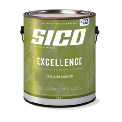 SICO Excellence Interior Paint and Primer - 100% Acrylic  - 3.78-L - White