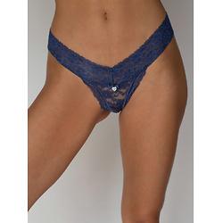 Lia lacey thong - Blue/Grey