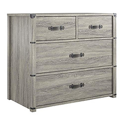 Little Seeds Nova 4 Drawer Storage Grey Dresser