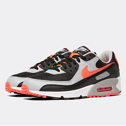 Nike Air Max 90 Essential Trainer | Black / Radiant Red / White