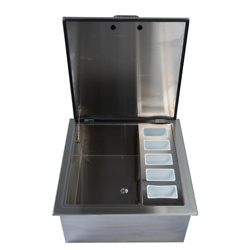 Signature Series 25-Inch Drop-In Ice Bin Cooler With Condiment Holder