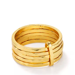 Argento Vivo Multiple-Band Ring in 18K Gold-Plated Sterling Silver