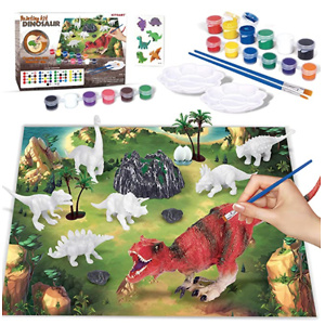 KITOART New Enlarged Dinosaur Painting Kit for Kids, Dinosaur Arts and Crafts for Kids