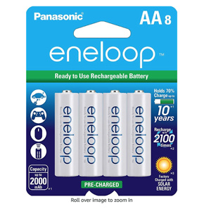 Panasonic eneloop AA 可充电电池 8枚装