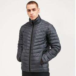 弹性羽绒夹克| 灰色细条纹
