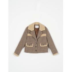 alisa wool jacket - chocolate plaid