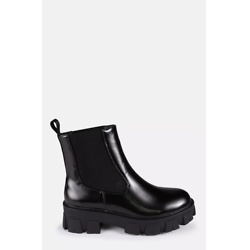 Black Chunky Lego Sole Chelsea Boots