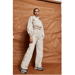 Sand Co Ord Missguided Nylon Kangaroo Pocket Sweatshirt