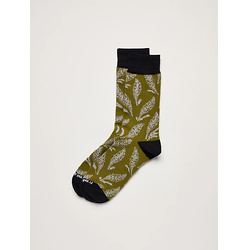 Floral Socks in Moss Green
