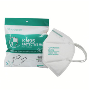 Powecom Non-Medical Disposable KN95 Respirator Face Masks, Adult Size, Pack Of 10
