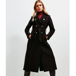 Military Button Belted Maxi Coat