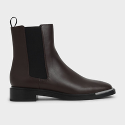Metal Accent Chelsea Boots