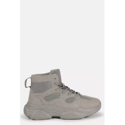 Gray High Top Bubble Sole Sneakers