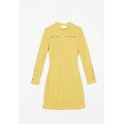 willow knit dress - lemon