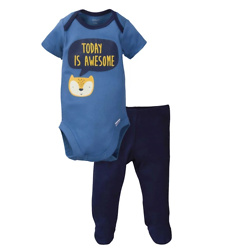 Gerber® 2-Piece Baby Boys Fox Bodysuit and Pant Set