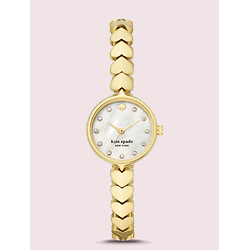 Hollis Gold-tone Stainless Steel Hearts Watch