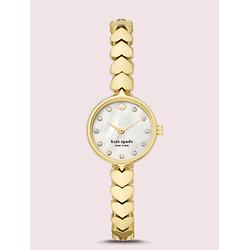 Hollis金色心形不锈钢表带手表