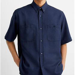 Acne Studios蓝色斜纹衬衫