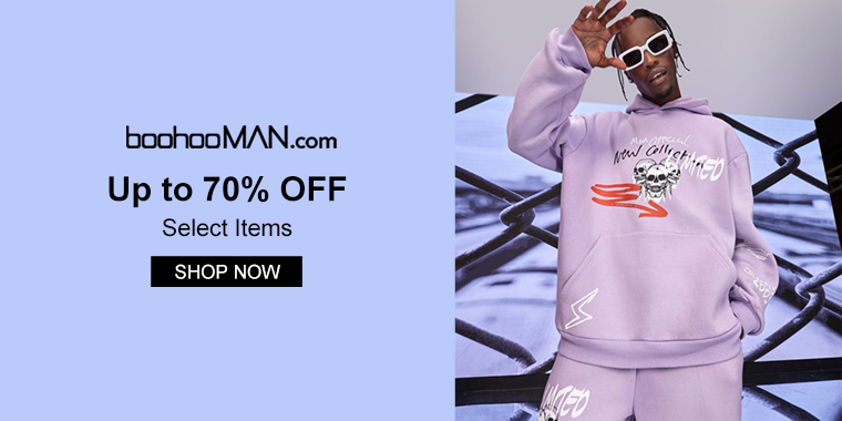 BoohooMAN: Up To 70% OFF Menswear Sale Item