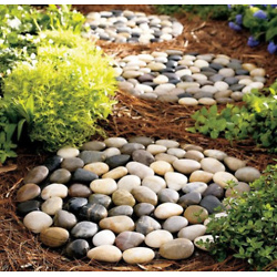 Gray & Brown Stepping Stone - Set of Three