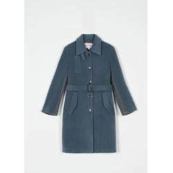 nina wool coat - nightime blue