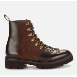 GRENSON Grenson Women's Nanette Leather Hiking Style Boots - Dark Brown