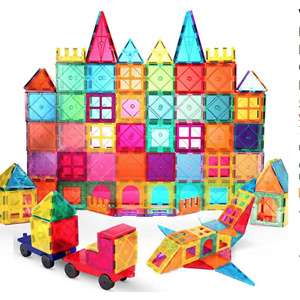 VATENIC 120PCS Kids Magnetic Tiles Building Blocks Set