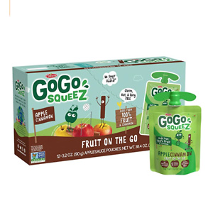 GoGo squeeZ 无糖苹果泥 肉桂苹果口味 12袋装