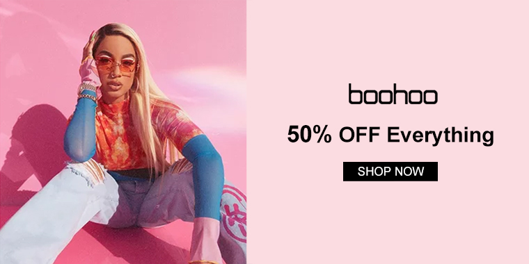 boohoo.com: 50% OFF Everything