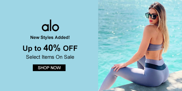 New Styles Added! Alo Yoga: Up to 40% OFF Select Items On Sale