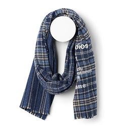 Acne Studios细格纹羊毛围巾