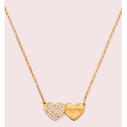 mom knows best pavé heart mom pendant