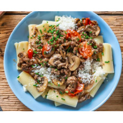 Beefy Sicilian Mushroom Rigatoni 3 meals for 2 people per week