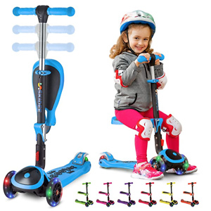 SKIDEE Kick Scooters for Kids 2-12 Years Old - Foldable Scooter