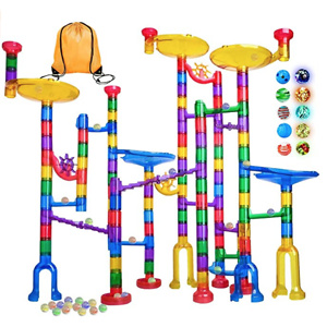 Meland Marble Run - 122Pcs Marble Maze Game Building Toy for Kid