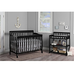 Dream On Me Ashton 5-in-1 Convertible Crib in Black