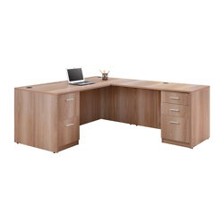 At Work Compact Reversible L-Desk - 66