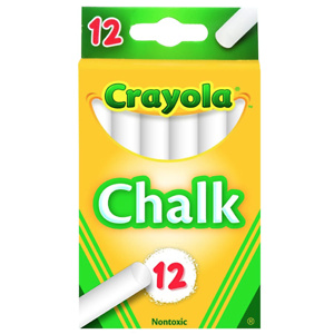 Crayola, 1 Pack of 12 chalk, White
