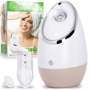 Facial Steamer SPA+ by Microderm GLO - Best Professional Nano Ionic Warm Mist, Deep Clean & Tighten Skin, Daily Hydration