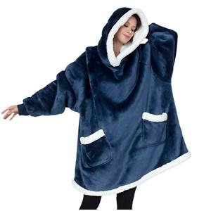 Bedsure Wearable Blanket, Sherpa Blanket Hoodie