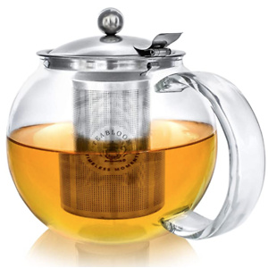 Teabloom Two-in-One Steeping Teapot / Teakettle – 40 oz / 1.2 L Capacity (4-5 Cups)