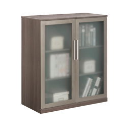 At Work Storage Cabinet with Glass Doors
