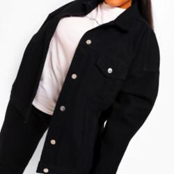 Plus Extreme Oversized Denim Jacket