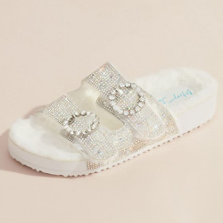 Glitter Double Strap Sandals