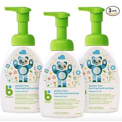 Babyganics 甘尼克宝贝 儿童免洗洗手液,无香型,8.45oz/瓶,共3瓶