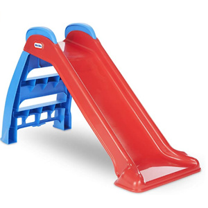 Little Tikes First Slide Toddler Slide, Slip And Slide For Kids (Red/Blue)